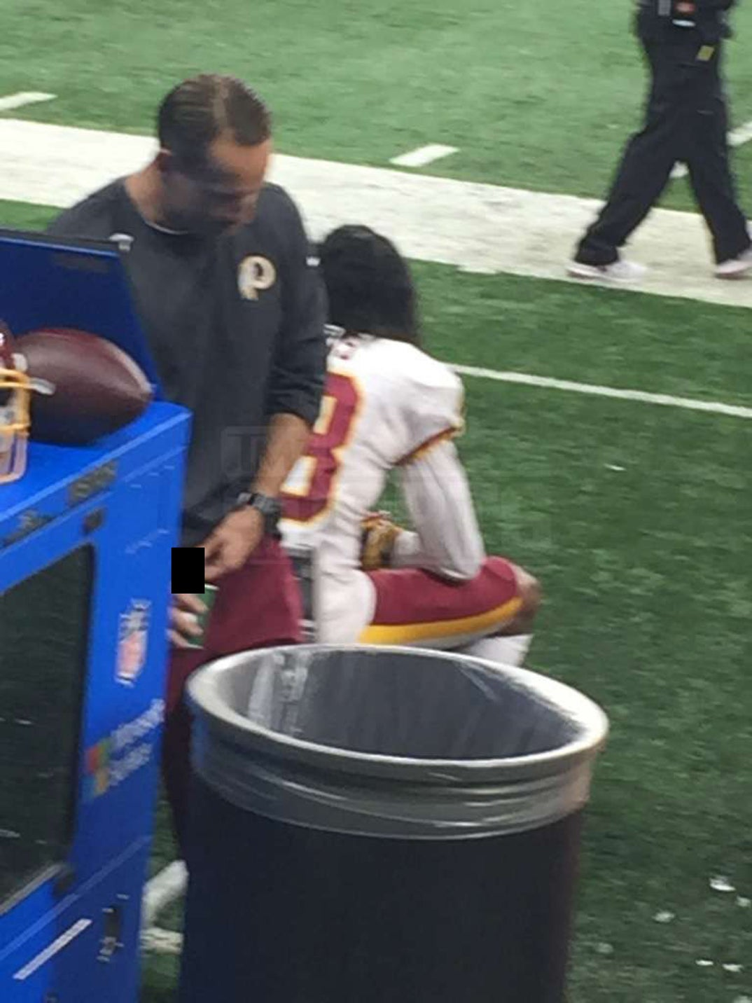 736c0b7b Redskins Asst. Coach -- Pees In Gatorade Cup On Sideline ... Fan ...