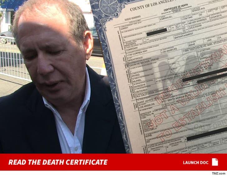 Garry Shandling's Death Certificate (DOCUMENT)