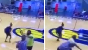 Youth Basketball Ref in Violent Brawl with Adults & Players Caught on Video