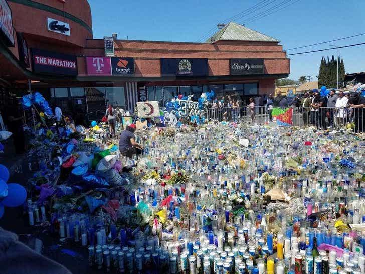 Nipsey Hussle Memorial at The Marathon Store