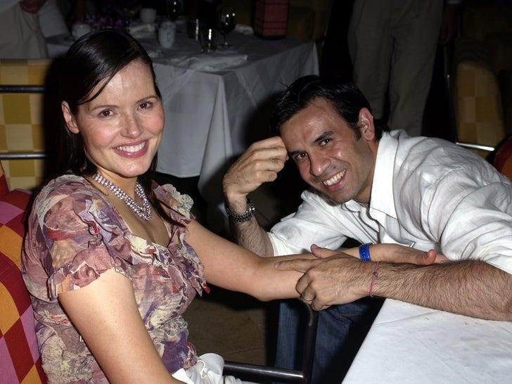 Geena Davis and Reza Jarrahy -- Happier Times