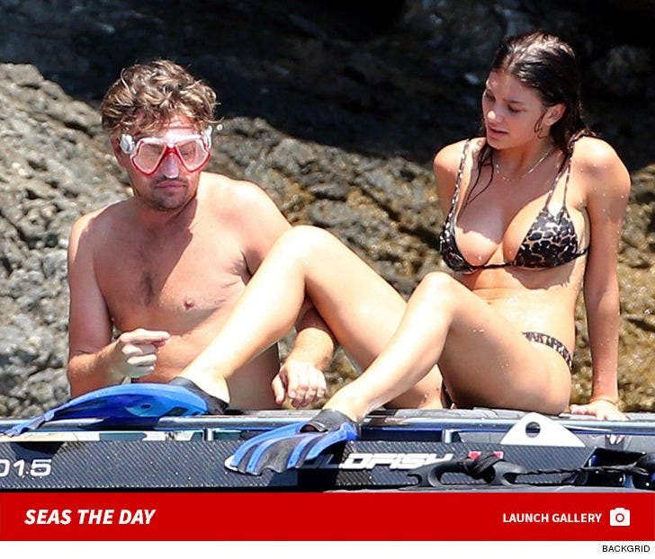 Leonardo DiCaprio and Girlfriend Camila Morrone Snorkeling In Italy