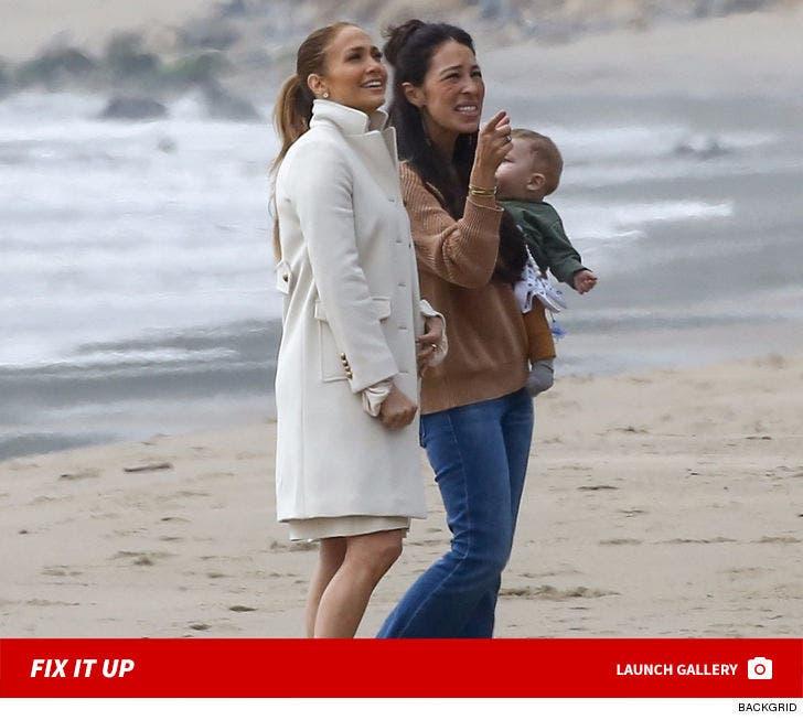 Jennifer Lopez And Joanna Gaines Get To Work In Malibu