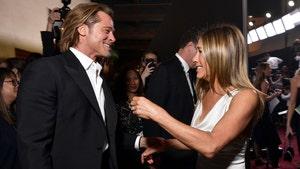 Brad Pitt & Jennifer Aniston Have Loving Reunion at SAG Awards