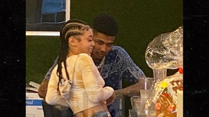 Blueface Gets Cozy with Singer Coi Leray During L.A. Lunch Date