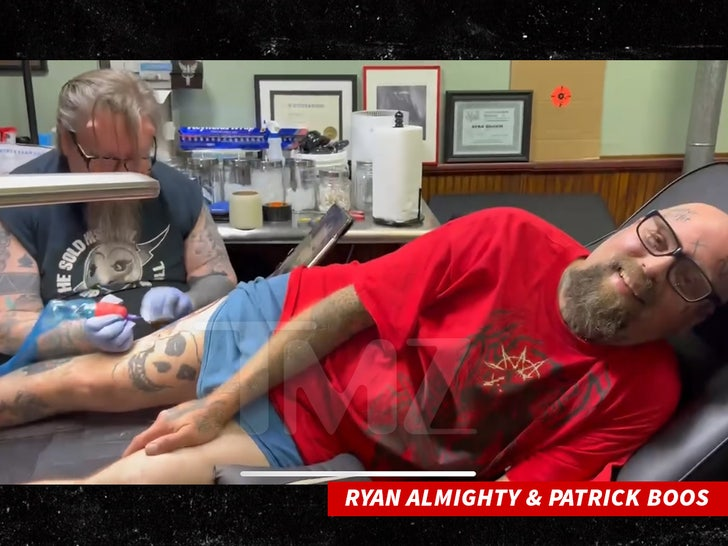 Ryan Almighty and Patrick Boos Manson Tattoo