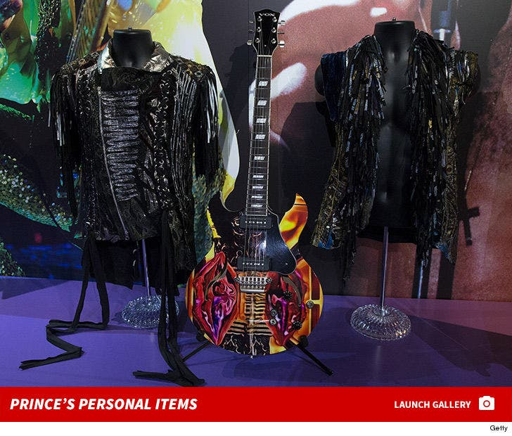 Prince Memorabilia on Display in London