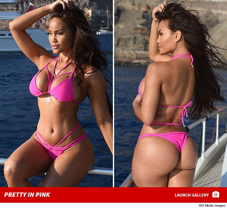 Daphne Joy's Hot Pink Bikini Bod in Greece