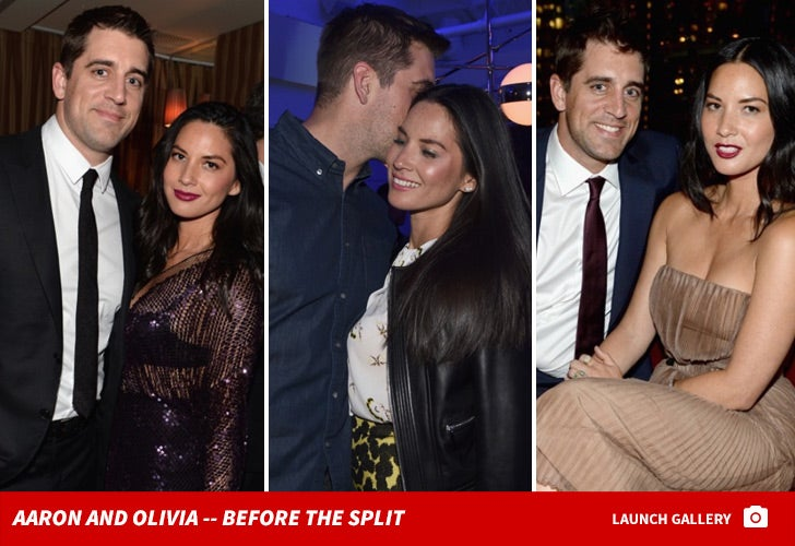 Olivia Munn and Aaron Rodgers -- Before the Split