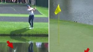 PGA's Jordan Spieth Hits Insane Golf Shot, Skips Ball On Water!