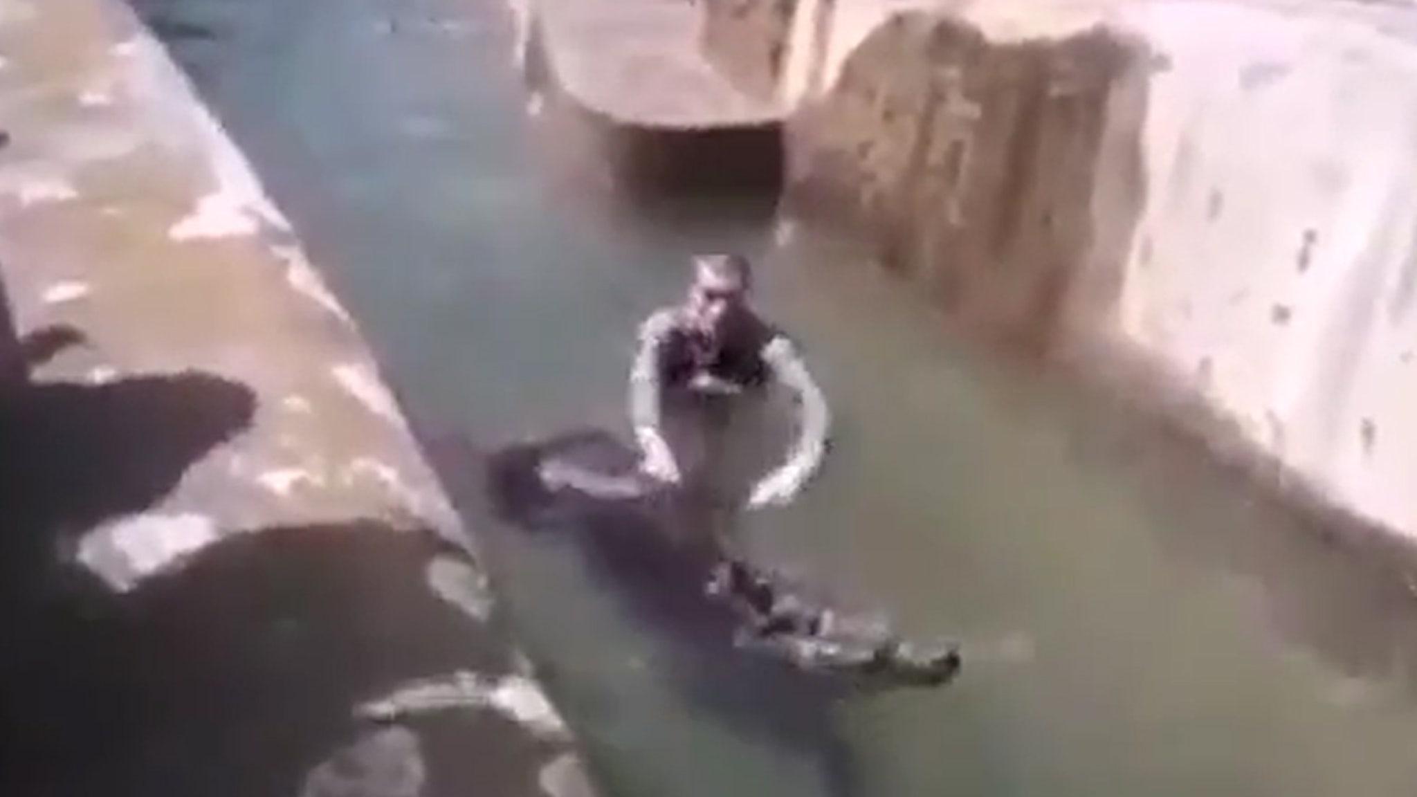 POLISH ZOO MAN JUMPS INTO BEAR ENCLOSURE ... Attacks, Tries To Drown Animal