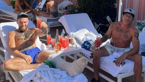 Conor McGregor Recovering Poolside In L.A., All Smiles 1 Week After Surgery