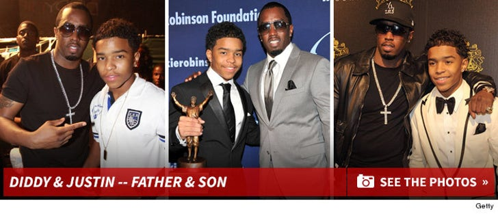 Diddy & Justin -- The Father Son Photos