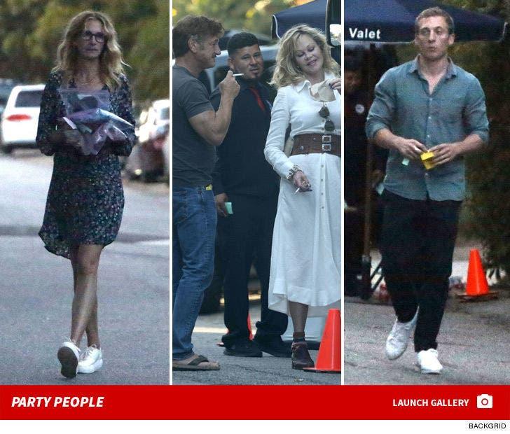 Chris Martin & Dakota Johnson's Star-Studded Party