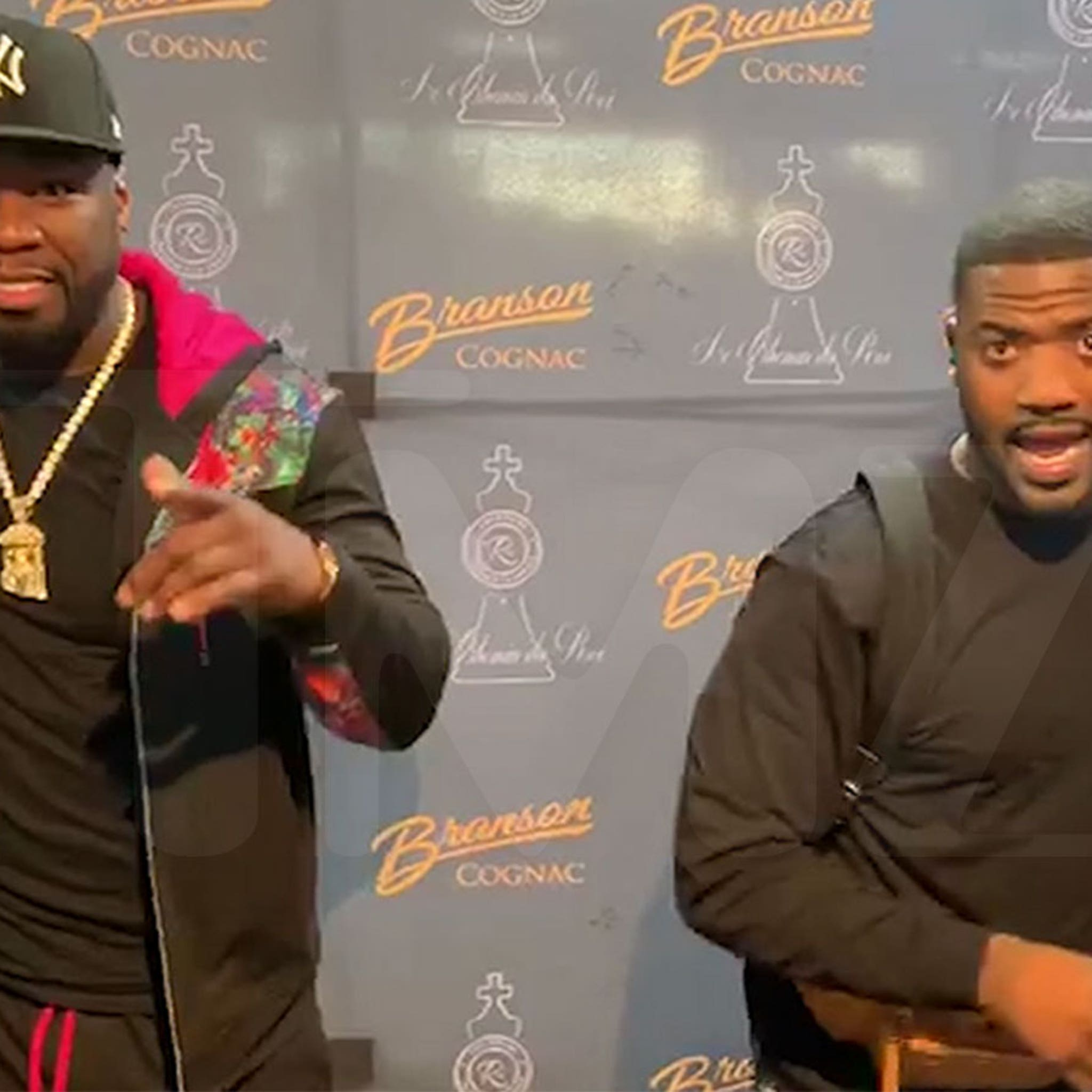 Ray J Shocks 50 Cent by Becoming Human Billboard at Promo Event