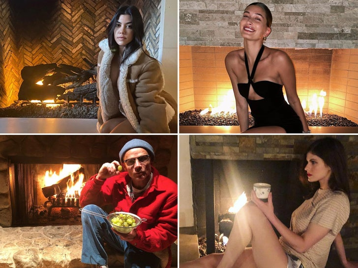 Stars Gettin' Lit By The Fireplace -- Bring The Heat!