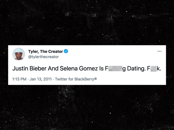 टायलर द क्रिएटर ने सेलेना गोमेज़ के बारे में ट्वीट किया