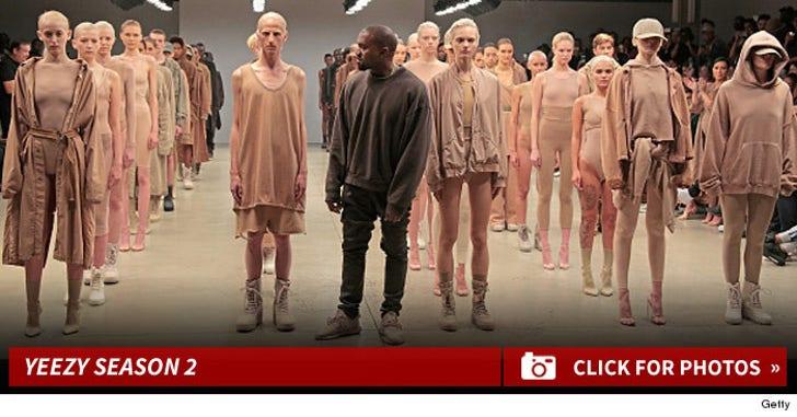 Yeezy Season 2 -- Kanye Goes Nude To NYFW