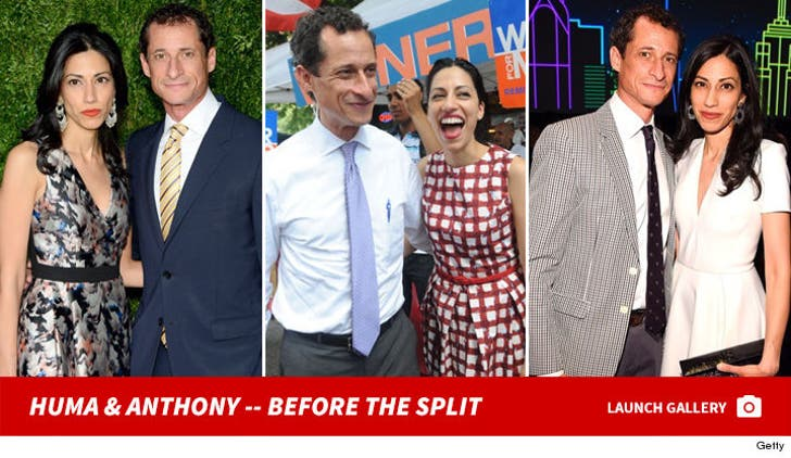 Huma Abedin and Anthony Weiner -- Before the Split