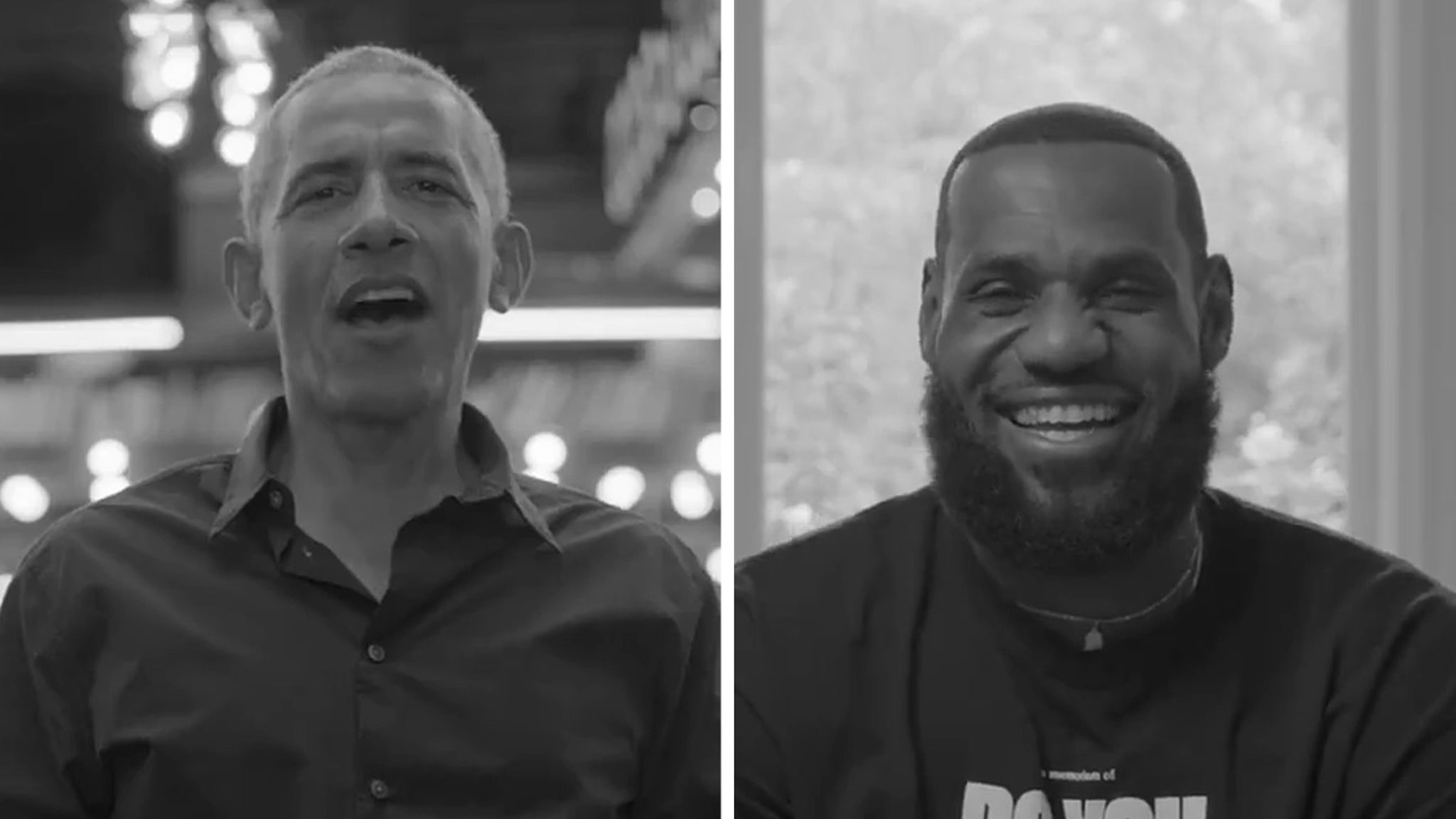 Barack Obama Swings By LeBron's 'The Shop' Let's Talk Hoops (And Politics)