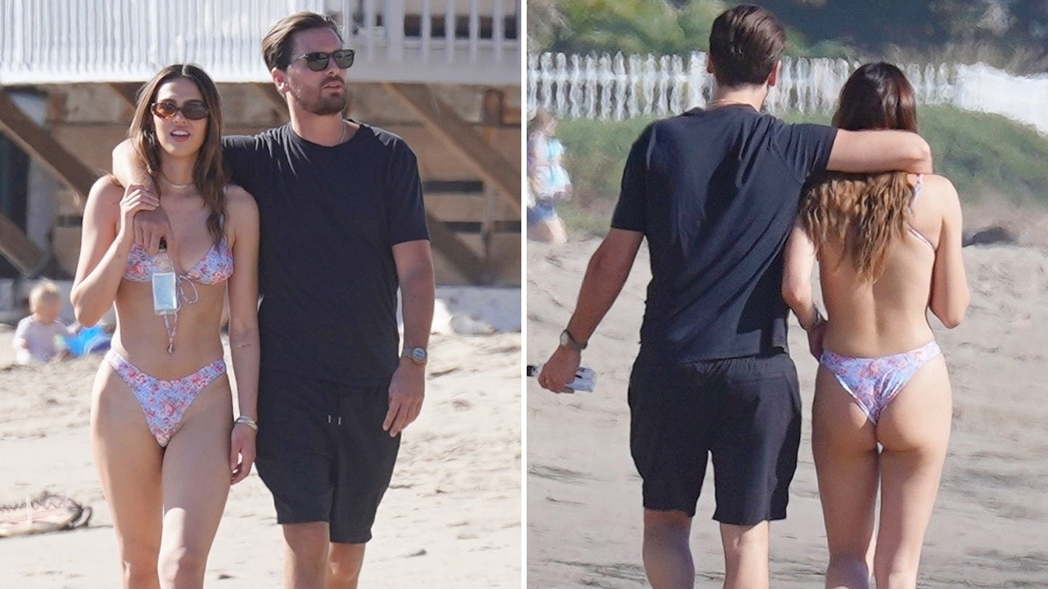 Scott Disick Hits the Beach with 19-Year-Old Amelia Hamlin