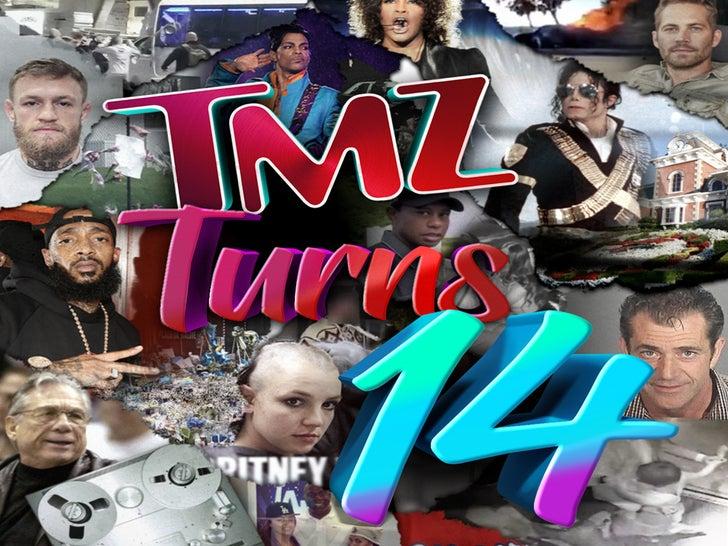 TMZ's 14 Year Anniversary -- 14 Years Of Big News