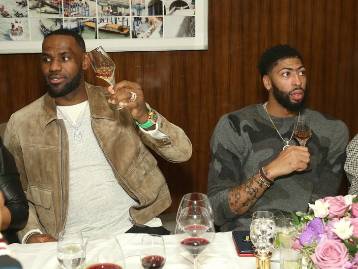 Lebron James and Anthony Davis Attend The Haute Living Party