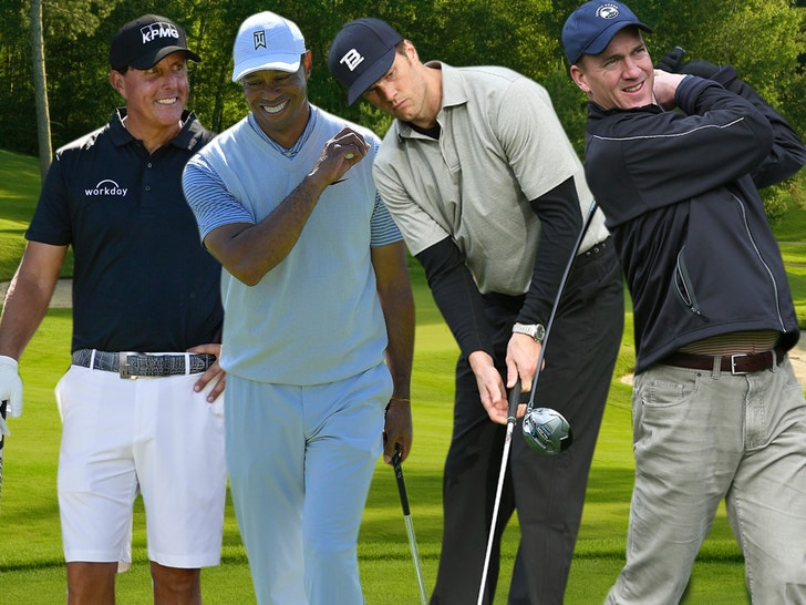 Woods, Mickelson to play coronavirus relief match with Brady, Manning