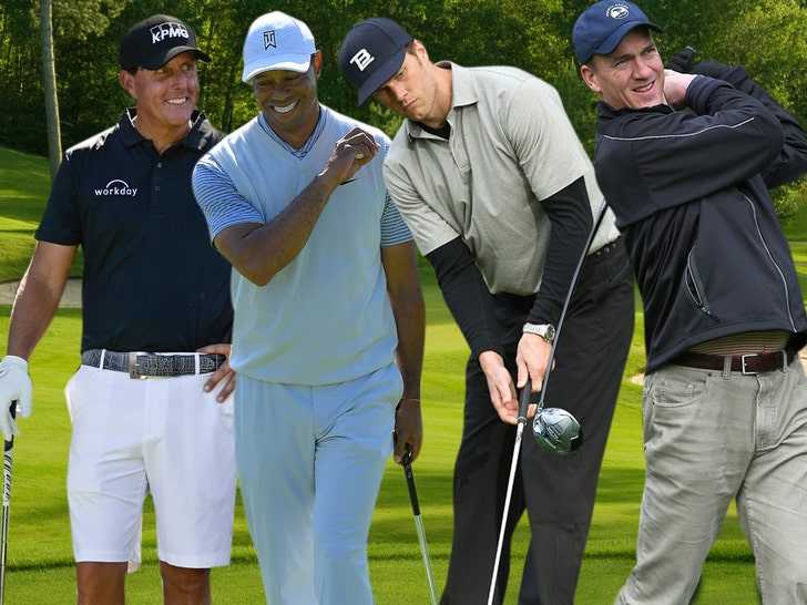 Tiger Woods vs. Phil Mickelson match could include Tom Brady, Peyton Manning