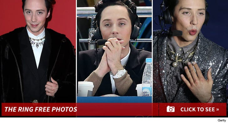 Johnny Weir's Ring Free Photos
