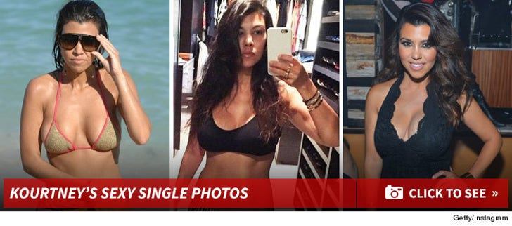 Kourtney Kardashian's Sexy Single Photos